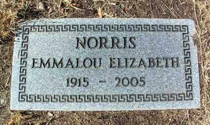 NORRIS, EMMALOU ELIZABETH - Yavapai County, Arizona | EMMALOU ELIZABETH NORRIS - Arizona Gravestone Photos