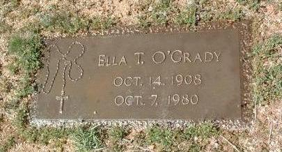 O'GRADY, ELLA  T. - Yavapai County, Arizona   ELLA  T. O'GRADY - Arizona Gravestone Photos