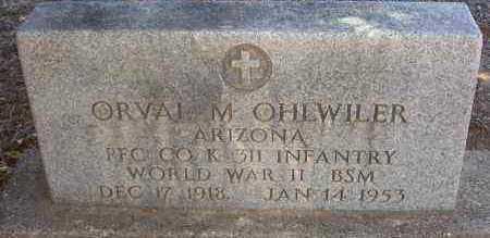 OHLWILER, ORVAL MABURN - Yavapai County, Arizona | ORVAL MABURN OHLWILER - Arizona Gravestone Photos