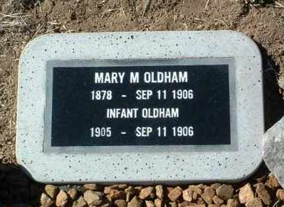 OLDHAM, MARY M. - Yavapai County, Arizona   MARY M. OLDHAM - Arizona Gravestone Photos