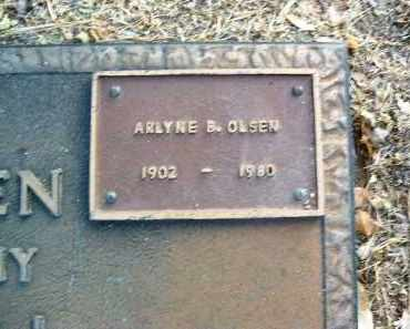 OLSEN, ARLYNE B. - Yavapai County, Arizona | ARLYNE B. OLSEN - Arizona Gravestone Photos