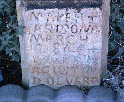 OLVERA, AUGUSTINE RAMIDEZ - Yavapai County, Arizona   AUGUSTINE RAMIDEZ OLVERA - Arizona Gravestone Photos