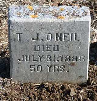 O'NEIL, T. J. - Yavapai County, Arizona   T. J. O'NEIL - Arizona Gravestone Photos