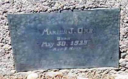 ORR, MARION J. - Yavapai County, Arizona | MARION J. ORR - Arizona Gravestone Photos