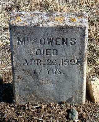 OWENS, MRS. - Yavapai County, Arizona | MRS. OWENS - Arizona Gravestone Photos