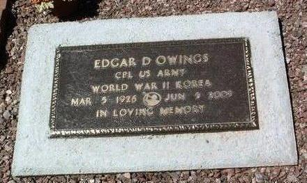 OWINGS, EDGAR DELBERT - Yavapai County, Arizona   EDGAR DELBERT OWINGS - Arizona Gravestone Photos