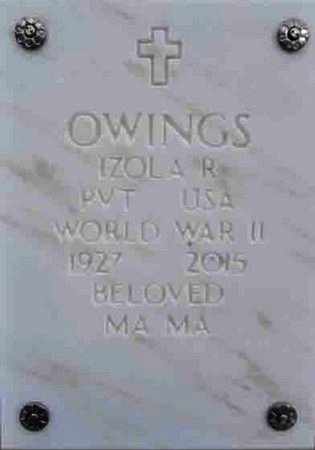OWINGS, IZOLA R. - Yavapai County, Arizona | IZOLA R. OWINGS - Arizona Gravestone Photos