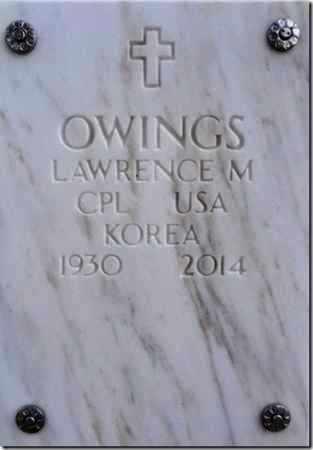 OWINGS, LAWRENCE - Yavapai County, Arizona | LAWRENCE OWINGS - Arizona Gravestone Photos