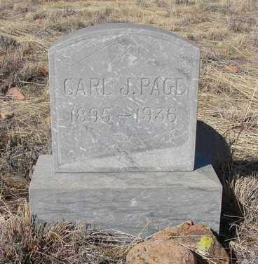 PAGE, CARL J. - Yavapai County, Arizona   CARL J. PAGE - Arizona Gravestone Photos