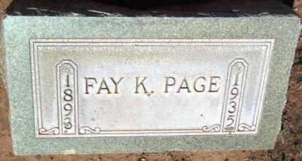 LANE PAGE, FAY KATE - Yavapai County, Arizona | FAY KATE LANE PAGE - Arizona Gravestone Photos