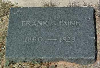 PAINE, FRANK CROSBY, SR. - Yavapai County, Arizona   FRANK CROSBY, SR. PAINE - Arizona Gravestone Photos