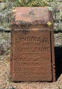 WILLIAMS PAINE, LIVONIA R. - Yavapai County, Arizona | LIVONIA R. WILLIAMS PAINE - Arizona Gravestone Photos