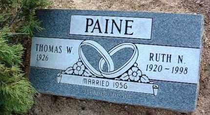 PAINE, THOMAS WILLIAM - Yavapai County, Arizona | THOMAS WILLIAM PAINE - Arizona Gravestone Photos