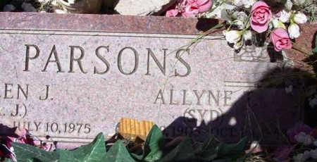 WALKER PARSONS, ALLYNE - Yavapai County, Arizona | ALLYNE WALKER PARSONS - Arizona Gravestone Photos