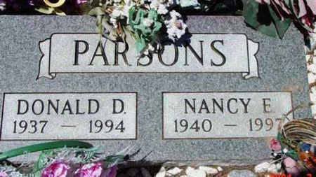 PARSONS, NANCY E. - Yavapai County, Arizona   NANCY E. PARSONS - Arizona Gravestone Photos