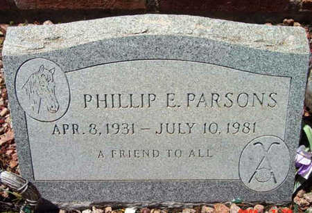PARSONS, PHILLIP E. - Yavapai County, Arizona | PHILLIP E. PARSONS - Arizona Gravestone Photos