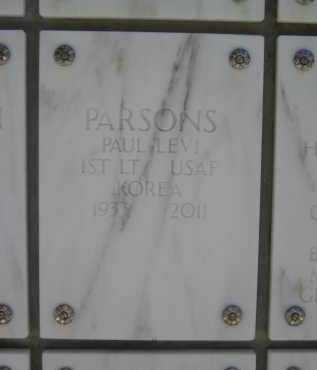PARSONS, PAUL LEVI - Yavapai County, Arizona | PAUL LEVI PARSONS - Arizona Gravestone Photos