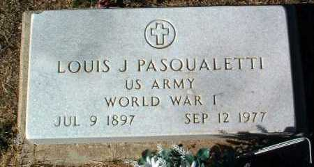 PASQUALETTI, LOUIS J. - Yavapai County, Arizona | LOUIS J. PASQUALETTI - Arizona Gravestone Photos