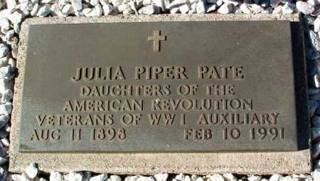 PIPER PATE, JULIA MAE - Yavapai County, Arizona | JULIA MAE PIPER PATE - Arizona Gravestone Photos