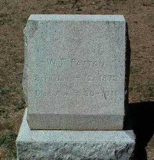 PATTON, WILLIAM RILEY - Yavapai County, Arizona | WILLIAM RILEY PATTON - Arizona Gravestone Photos