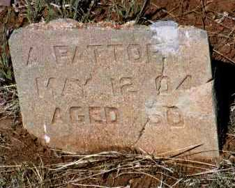 PATTORY, ANTHONY - Yavapai County, Arizona | ANTHONY PATTORY - Arizona Gravestone Photos