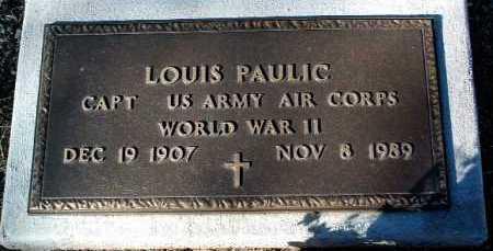 PAULIC, LOUIS - Yavapai County, Arizona | LOUIS PAULIC - Arizona Gravestone Photos