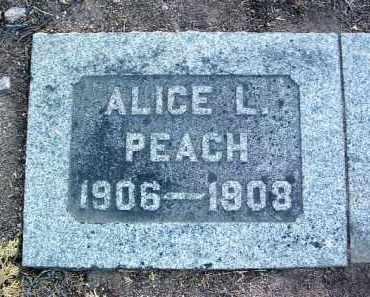 PEACH, ALICE LOUISE - Yavapai County, Arizona   ALICE LOUISE PEACH - Arizona Gravestone Photos