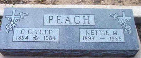 PEACH, CLINTON CALLOWAY (TUFF) - Yavapai County, Arizona | CLINTON CALLOWAY (TUFF) PEACH - Arizona Gravestone Photos