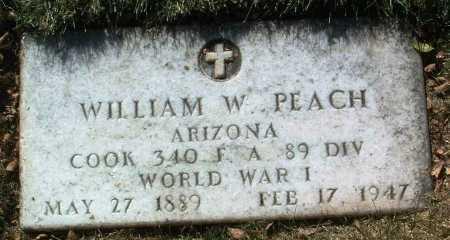 PEACH, WILLIAM W. - Yavapai County, Arizona | WILLIAM W. PEACH - Arizona Gravestone Photos