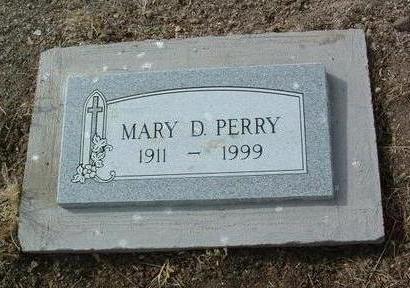 PERRY, MARY D. - Yavapai County, Arizona | MARY D. PERRY - Arizona Gravestone Photos