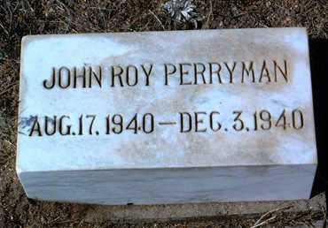 PERRYMAN, JOHN ROY - Yavapai County, Arizona | JOHN ROY PERRYMAN - Arizona Gravestone Photos