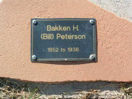 PETERSON, BAKKEN H. - Yavapai County, Arizona | BAKKEN H. PETERSON - Arizona Gravestone Photos