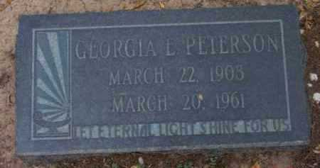 PETERSON, GEORGIA L. - Yavapai County, Arizona | GEORGIA L. PETERSON - Arizona Gravestone Photos