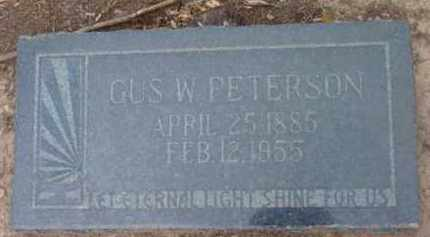 PETERSON, GUS WILLIAM - Yavapai County, Arizona | GUS WILLIAM PETERSON - Arizona Gravestone Photos