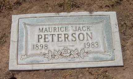 PETERSON, MAURICE (JACK) - Yavapai County, Arizona | MAURICE (JACK) PETERSON - Arizona Gravestone Photos