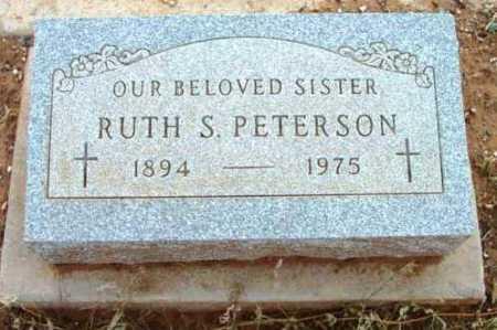 PETERSON, RUTH S. - Yavapai County, Arizona | RUTH S. PETERSON - Arizona Gravestone Photos