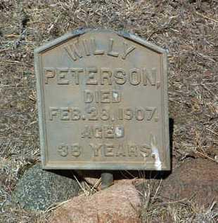 PETERSON, WILLY - Yavapai County, Arizona | WILLY PETERSON - Arizona Gravestone Photos