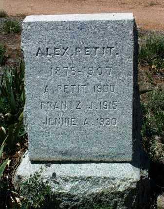 PETIT, ALEXANDER EARL - Yavapai County, Arizona   ALEXANDER EARL PETIT - Arizona Gravestone Photos