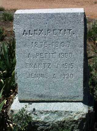 PETIT, ALEXANDER - Yavapai County, Arizona   ALEXANDER PETIT - Arizona Gravestone Photos