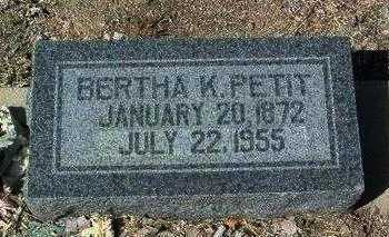 PETIT, BERTHA K. - Yavapai County, Arizona | BERTHA K. PETIT - Arizona Gravestone Photos
