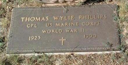 PHILLIPS, THOMAS WYLIE - Yavapai County, Arizona | THOMAS WYLIE PHILLIPS - Arizona Gravestone Photos