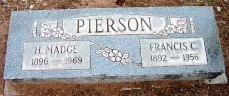 PIERSON, FRANCIS CLEVELAND - Yavapai County, Arizona | FRANCIS CLEVELAND PIERSON - Arizona Gravestone Photos