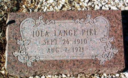 LANGE PIKE, IOLA ALICE - Yavapai County, Arizona | IOLA ALICE LANGE PIKE - Arizona Gravestone Photos