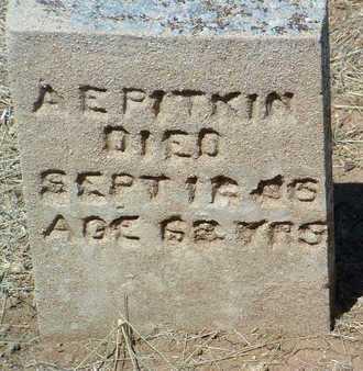 PITKIN, ALBERT E. - Yavapai County, Arizona | ALBERT E. PITKIN - Arizona Gravestone Photos