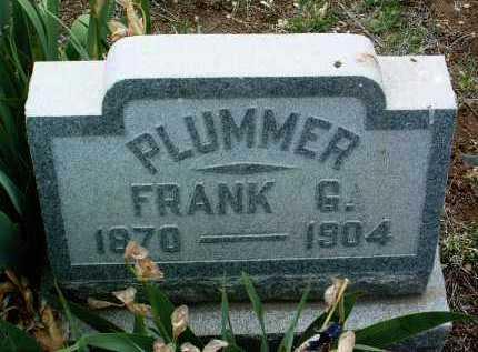 PLUMMER, FRANK G. - Yavapai County, Arizona   FRANK G. PLUMMER - Arizona Gravestone Photos