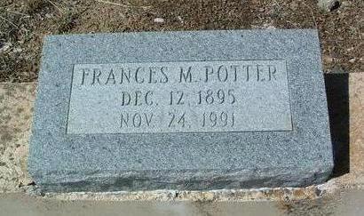 POTTER, FRANCES M. - Yavapai County, Arizona | FRANCES M. POTTER - Arizona Gravestone Photos