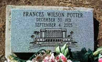 DAVIS POTTER, FRANCES - Yavapai County, Arizona | FRANCES DAVIS POTTER - Arizona Gravestone Photos