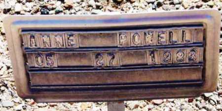 POWELL, ANNE - Yavapai County, Arizona | ANNE POWELL - Arizona Gravestone Photos
