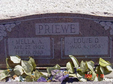 PRIEWE, MELLA A. - Yavapai County, Arizona | MELLA A. PRIEWE - Arizona Gravestone Photos