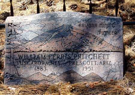 PRITCHETT, WILLIAM FERRIS - Yavapai County, Arizona | WILLIAM FERRIS PRITCHETT - Arizona Gravestone Photos